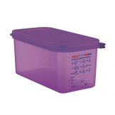 Araven Allergen Polypropylene 1/3 Gastronorm Food Container Purple 6Ltr