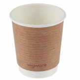 Vegware Compostable Coffee Cups Double Wall 230ml / 8oz (Pack of 500)