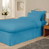 Essentials Spectrum Fitted Sheet Turquoise Single (144 TC, 50/50 Polycotton)