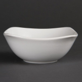 Olympia Whiteware Rounded Square Bowls 140mm (Pack of 12)