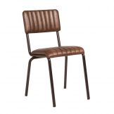 Core Side Chair - Ribbed - Lascari - Vintage Brown