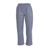 Whites Unisex Vegas Chefs Trousers Small Blue and White Check XS