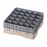 Cambro Camrack Beige 25 Compartments Max Glass Height 155mm