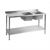 Holmes Fully Assembled Stainless Steel Sink Left Hand Drainer 1800mm