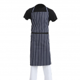 Whites Butchers Apron   Navy Stripe Extra Large