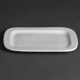 Olympia Whiteware Rounded Rectangular Plates 230mm (Pack of 12)