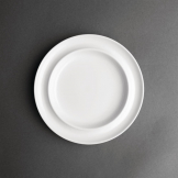 Olympia Heritage Raised Rim Plates White 203mm (Pack of 4)