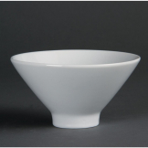 Olympia Whiteware Fluted Bowls 141mm (Pack of 4)
