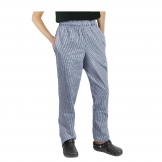Chef Works Essential Baggy Pants Small Blue Check L
