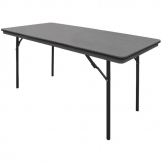 Bolero ABS Rectangular Folding Table Grey 5ft