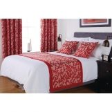 Essentials Kensington Bed Runner Chilli Super King