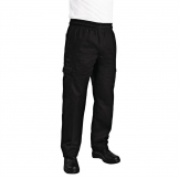 Chef Works Unisex Slim Fit Cargo Chefs Trousers Black S