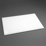 Hygiplas Anti Microbial High Density White Chopping Board