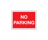 No Parking Exterior Notice - Mount Options