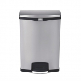 Rubbermaid Slim Jim Front Step on Pedal Bin Stainless Steel 90Ltr