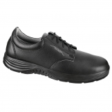 Abeba Extra Light Microfiber Lace Up Safety Shoe Black 36