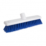 Jantex Hygiene Broom Soft Bristle Blue 12in