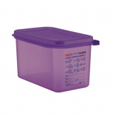 Araven Allergen Polypropylene 1/4 Gastronorm Food Storage Container Purple 4.3L