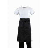 Regular Bistro Apron Black With Pocket