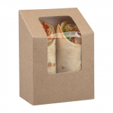 Colpac Compostable Kraft Tuck-Top Wrap Packs With PLA Window (Pack of 500)