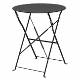 Bolero Black Pavement Style Steel Table 595mm