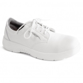 Abeba X-Light Microfiber Lace Up Safety Shoe White 44