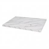 Bolero Pre-drilled Rectangular Table Top Marble Effect
