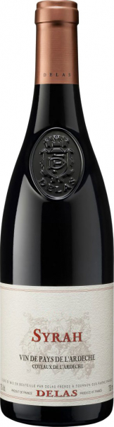 Delas - Syrah Vin de Pays 2015 (75cl Bottle)