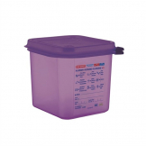 Araven Allergen Polypropylene 1/6 Gastronorm Food Container Purple 2.6L