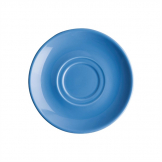Olympia Heritage Double Well Saucer Blue 163mm (Pack of 6)