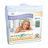 Protect-A-Bed Allerzip Smooth Pillow Protector (100% Polyester)