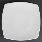 Olympia Whiteware Rounded Square Plates 270mm (Pack of 6)