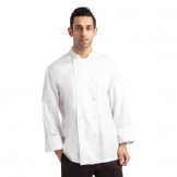 Chef Works Calgary Long Sleeve Cool Vent Unisex Chefs Jacket White S