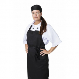 Nisbets Essentials Bib Aprons Polycotton Black (2 Pack)