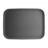 Kristallon 510mm x 380mm Polypropylene Rectangular Non-Slip Tray Black
