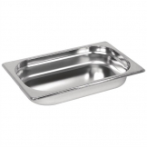 Vogue Stainless Steel 1/4 Gastronorm Pan 40mm
