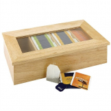 Olympia Hevea Wood Tea Box