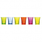 Polystyrene Mixed Colour Shot Glasses 25ml CE Marked (Pack of 24)
