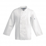 Whites Vegas Unisex Chef Jacket Long Sleeve White - S