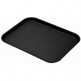 Cambro Treadlite Fibreglass Rectangular Non-Slip Tray Black 457mm