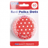 PME Cupcake Baking Cases Polka Dot (Pack of 60)