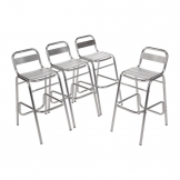 Bolero Aluminium Bar Stools (Pack of 4)