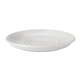 Utopia Pure White Double Well Saucers 150mm (Pack of 24)
