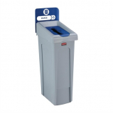 Rubbermaid Slim Jim Paper Recycling Station Blue 87Ltr