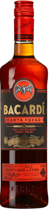 Bacardi - Carta Fuego (70cl Bottle)