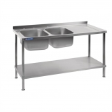 Holmes Self Assembly Stainless Steel Sink Right Hand Drainer 1500mm
