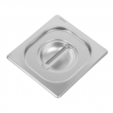 Vogue Heavy Duty Stainless Steel 1/6 Gastronorm Pan Lid