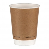 Fiesta Green Plastic-Free Compostable Hot Cups Double Wall 340ml / 12oz x 500