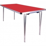 Gopak Contour Folding Table Red 5ft