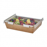Colpac Combione Recyclable Kraft Food Trays With Lid 1280ml / 45oz (Pack of 200)